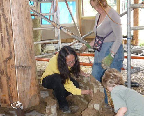 zelf leemkachel en finoven bouwen