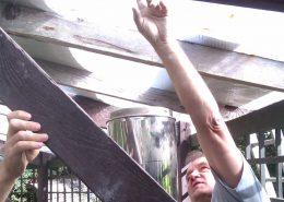 stoken met hout zelf kachel bouwen