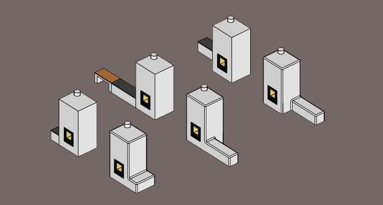 Rocket leemkachel bouwpakket verwarmde bank